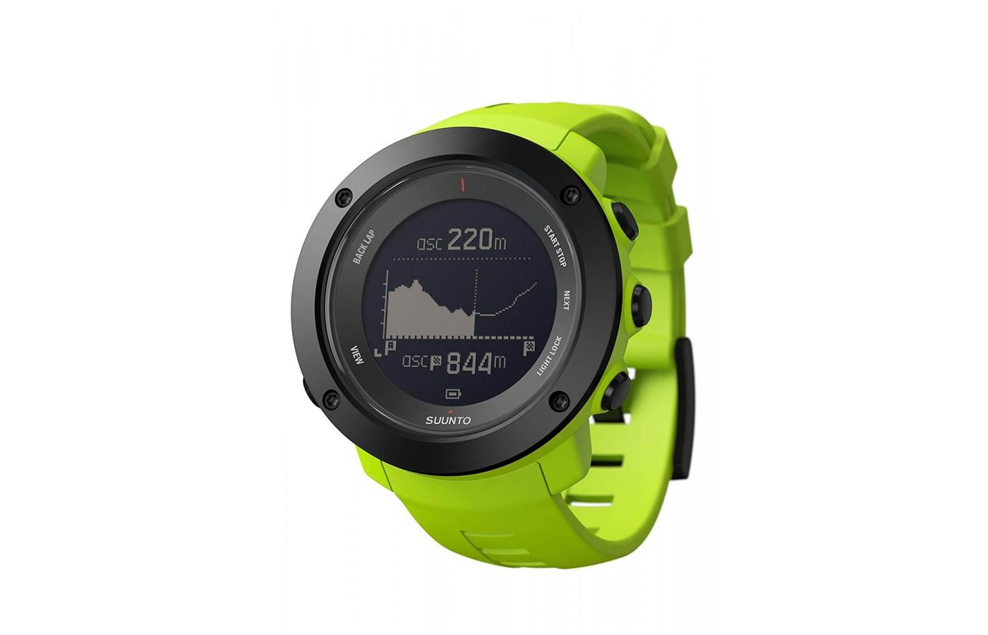 The Suunto Ambit3 Vertical comes in three different colors including green