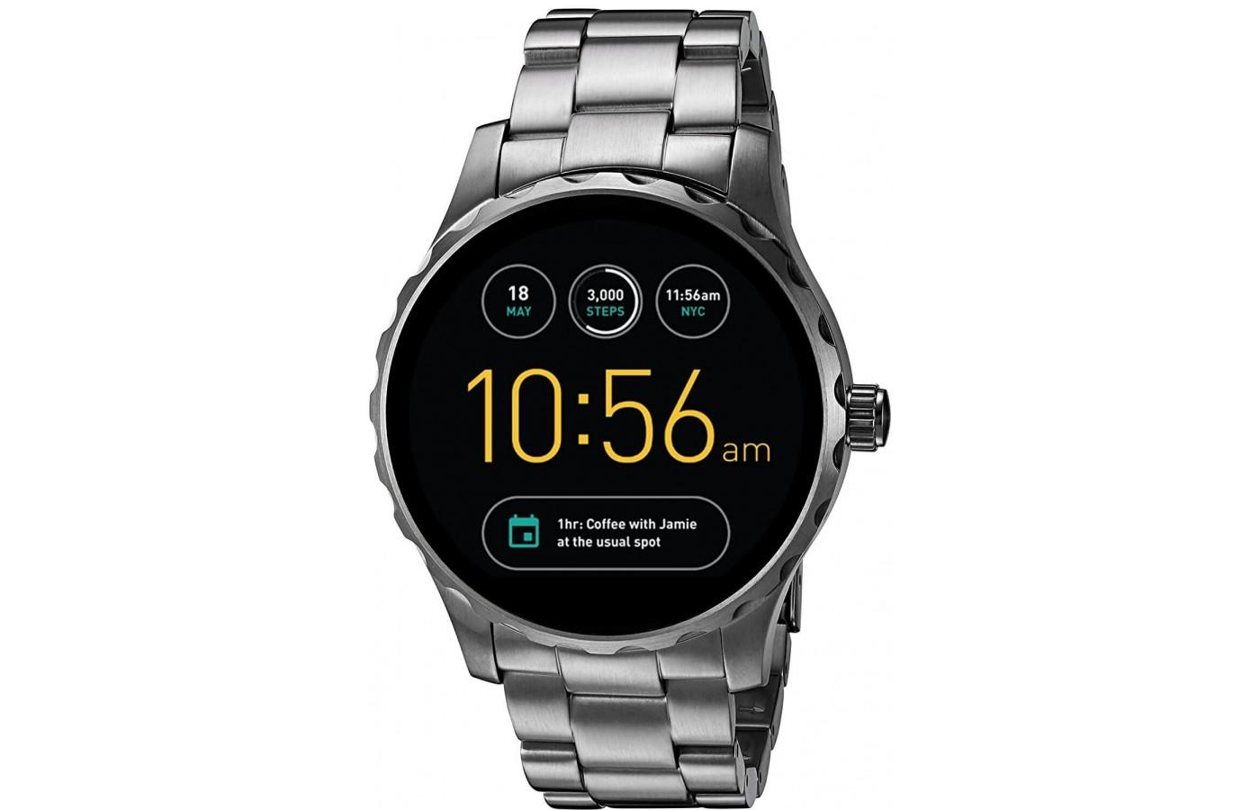 Q Marshal version of Fossil Gen 2 Smartwatch in Stainless Steel