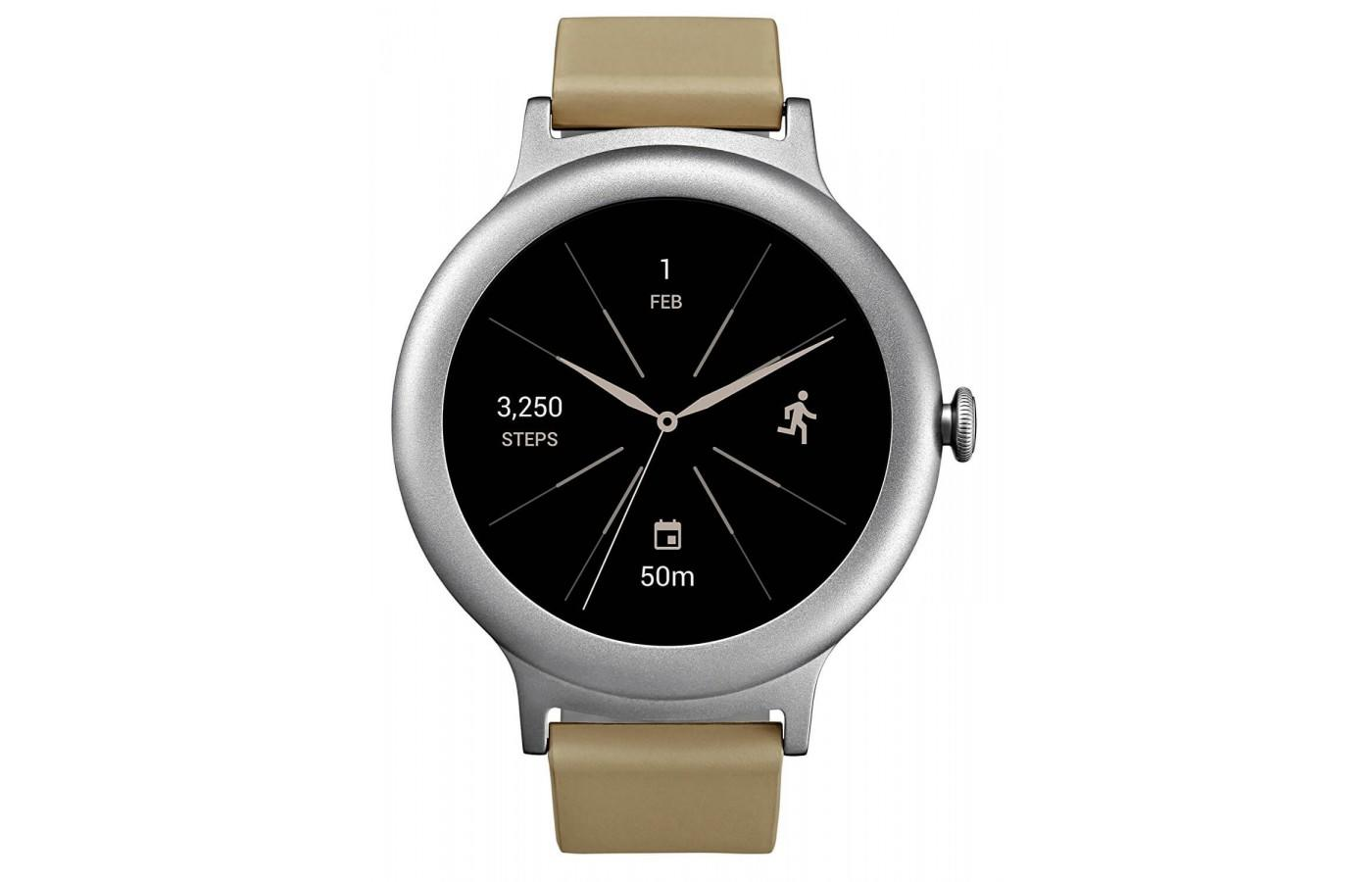 the LG Watch Style keeps track of distance and steps