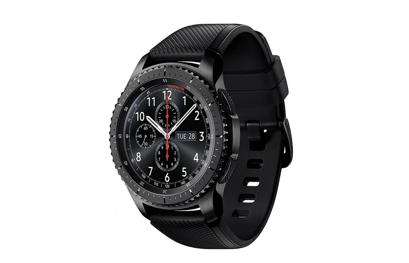 the Samsung Gear S3 Frontier shown from the front/side