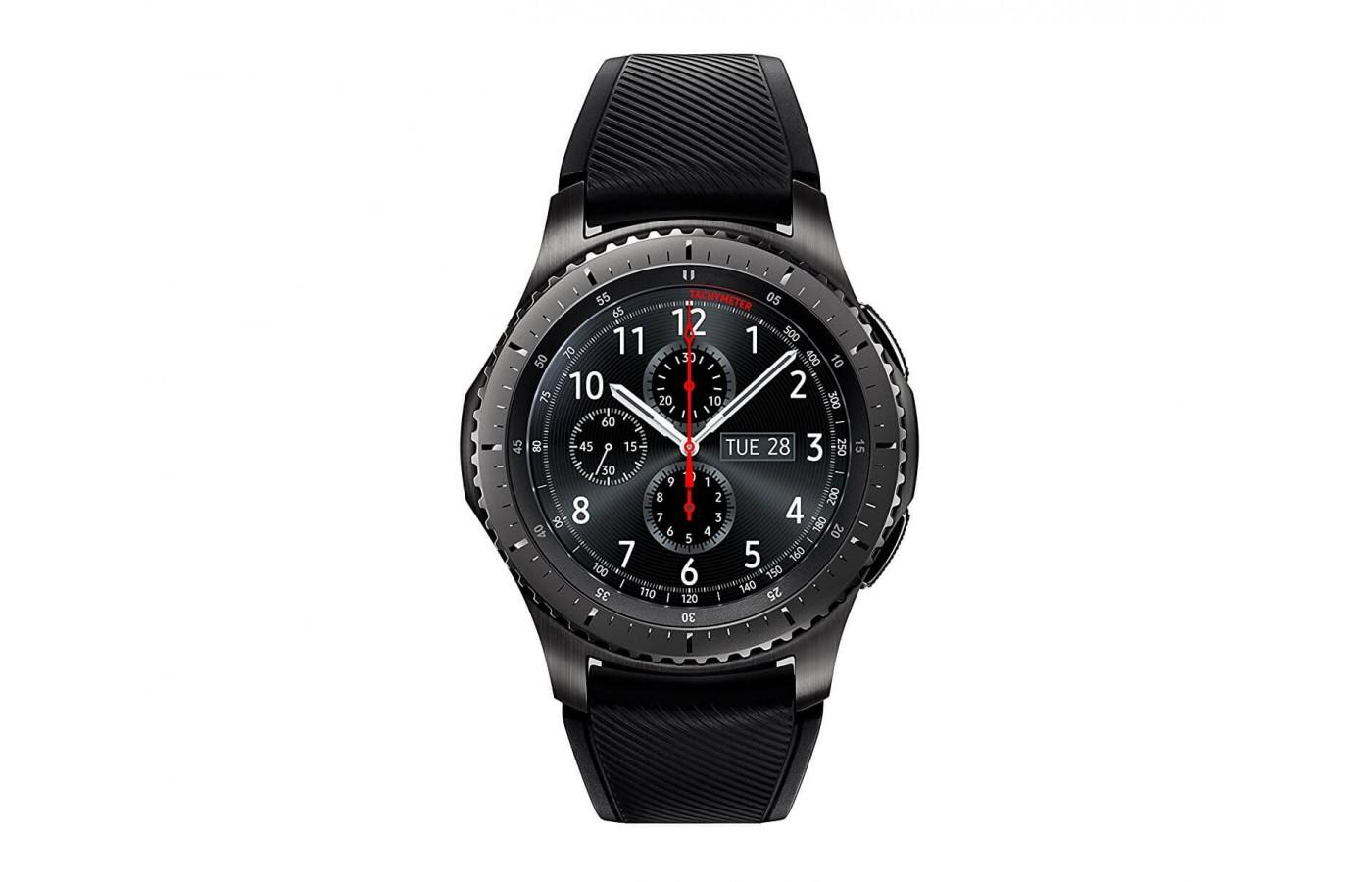 the Samsung Gear S3 Frontier watch face is always on