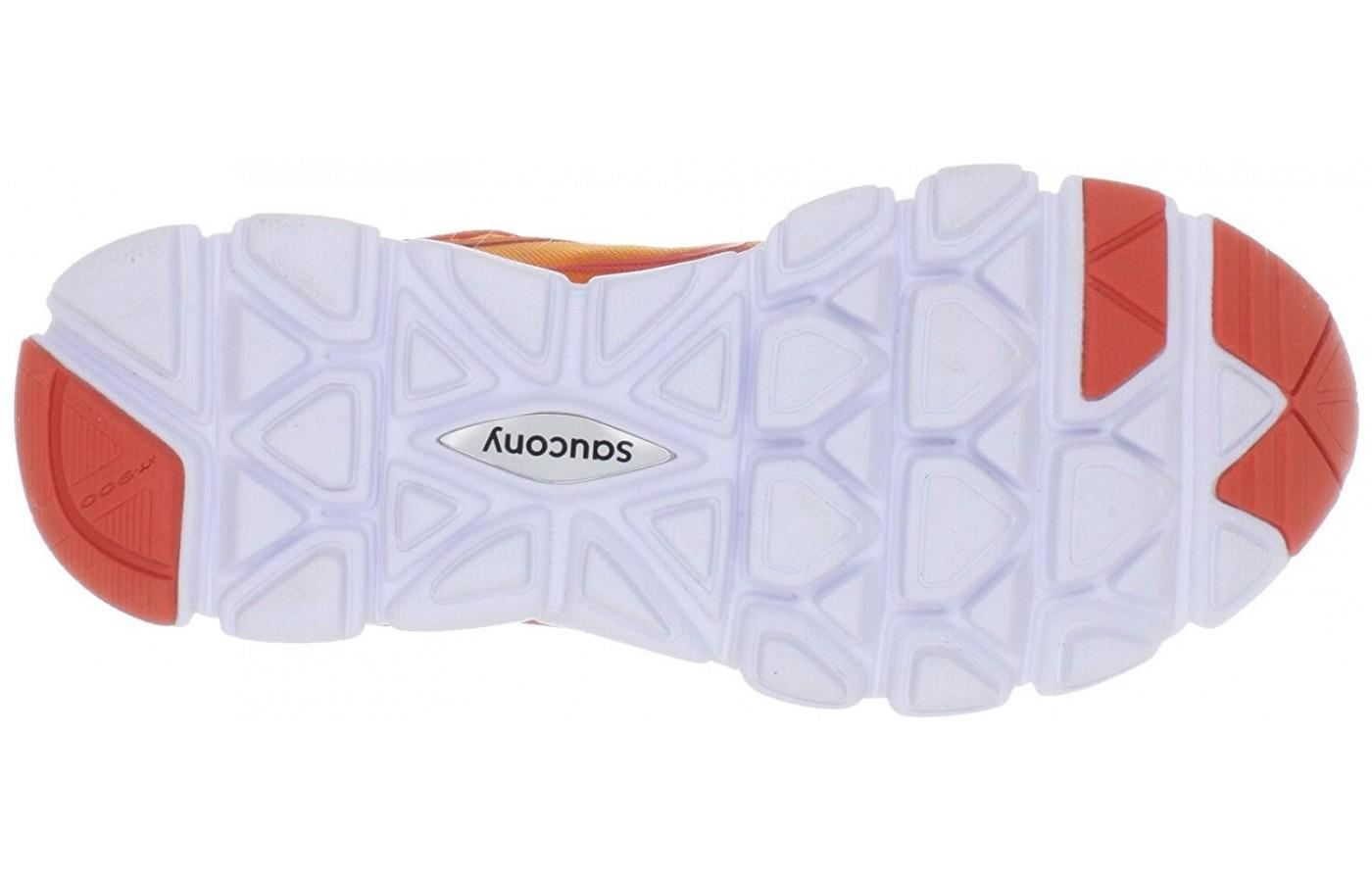 the forefoot and heel of the outsole of the Saucony Virrata is covered with reinforced rubber