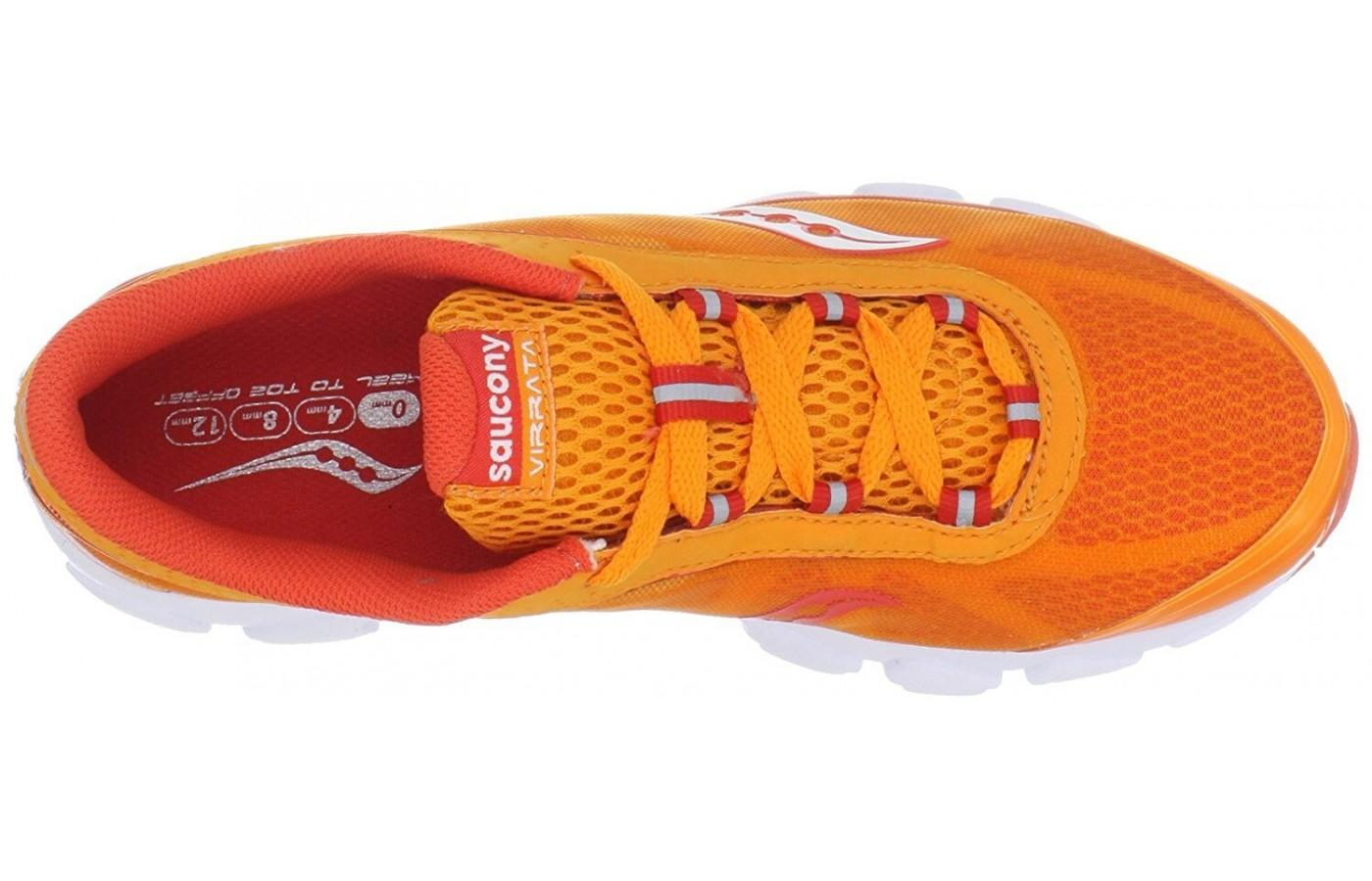 the upper of the Saucony Virrata is made of a seamless breathable mono mesh