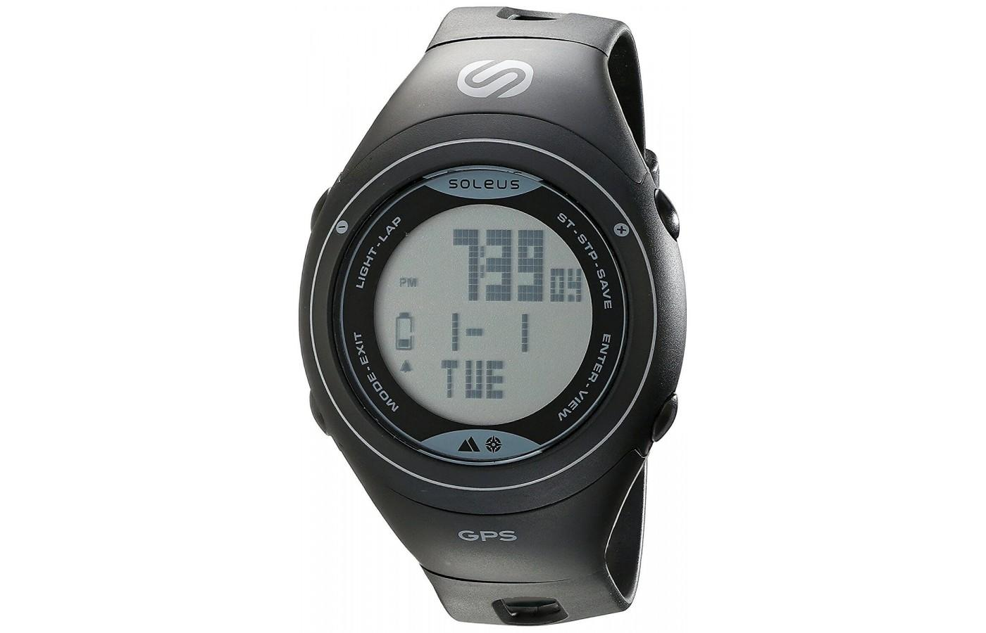 Soleus GPS Cross Country Fitness Watch in Black/Gray