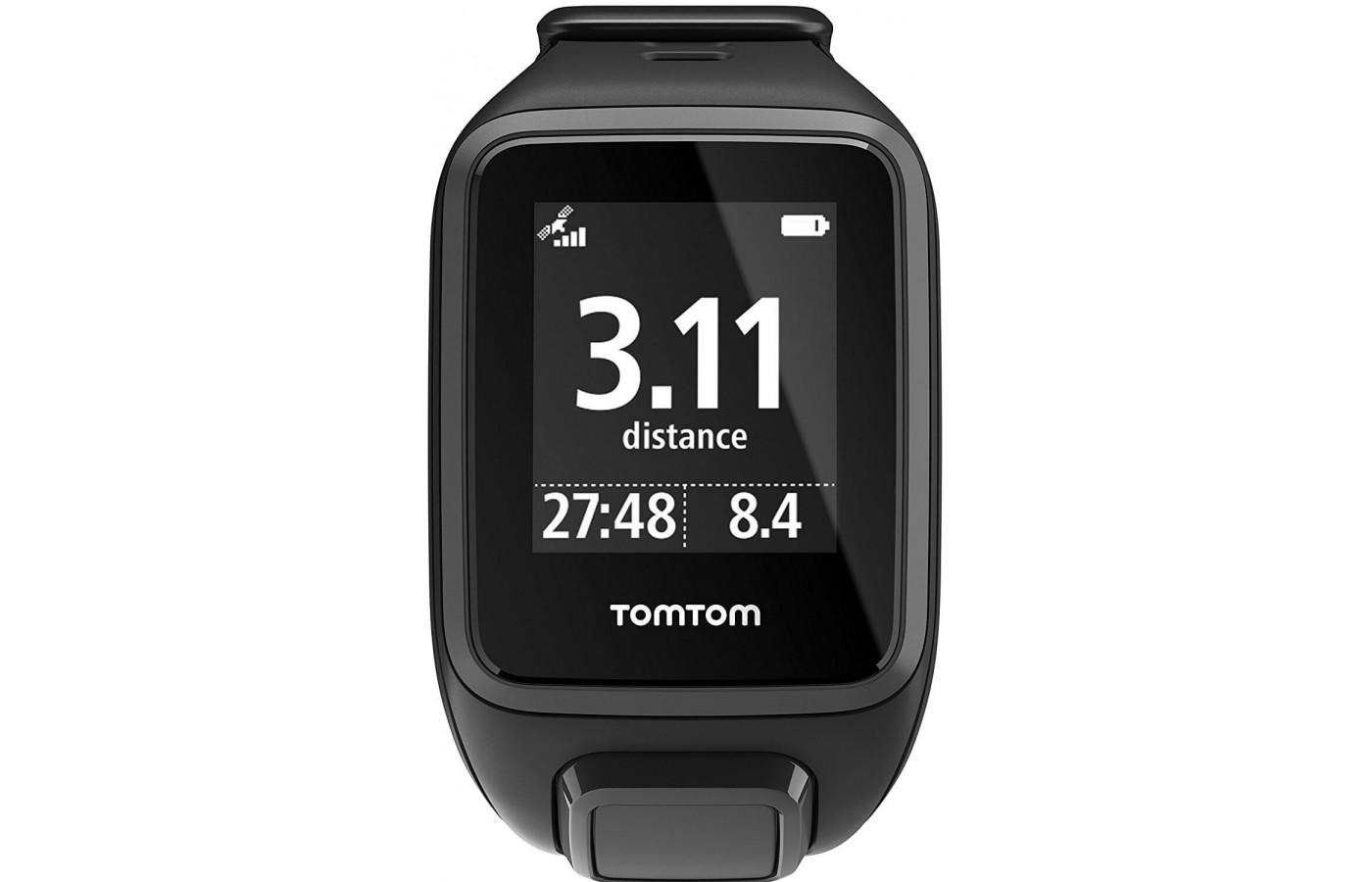 the TomTom Spark Cardio + Music has an easy-to-read face