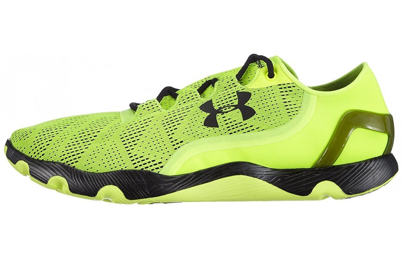 the Armour SpeedForm RC Vent has a seamless heel cup for a locked in fit