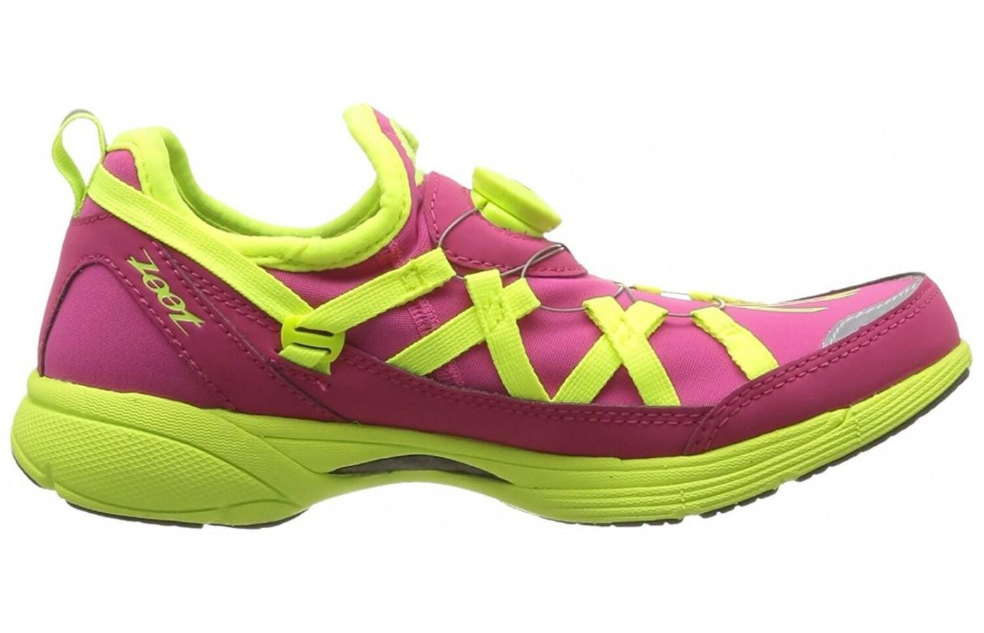 the Zoot Ultra Race 4.0 uses Z-Bound technology for a cushioned ride
