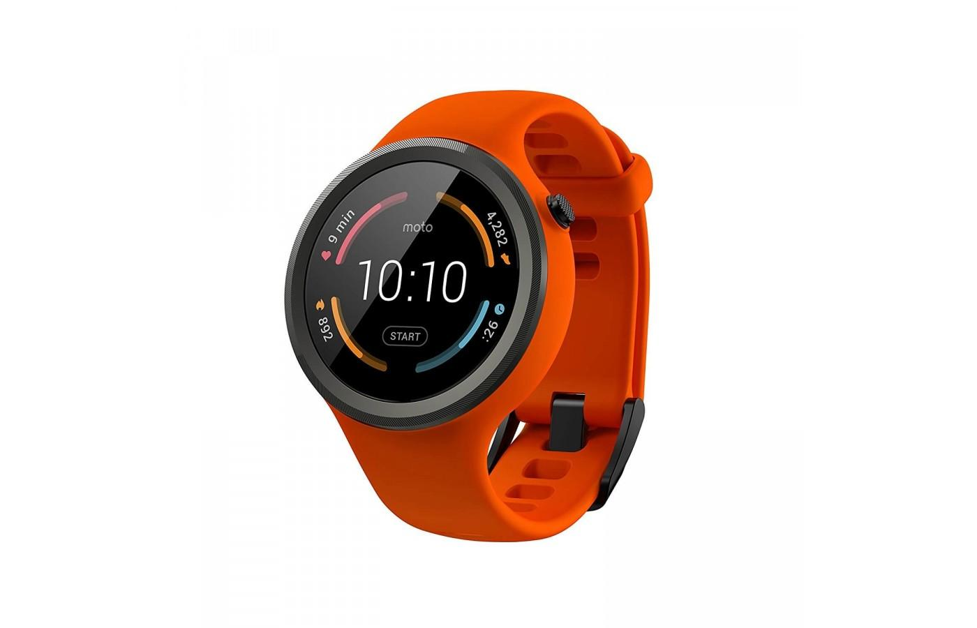 The Moto 360 Sport in flame