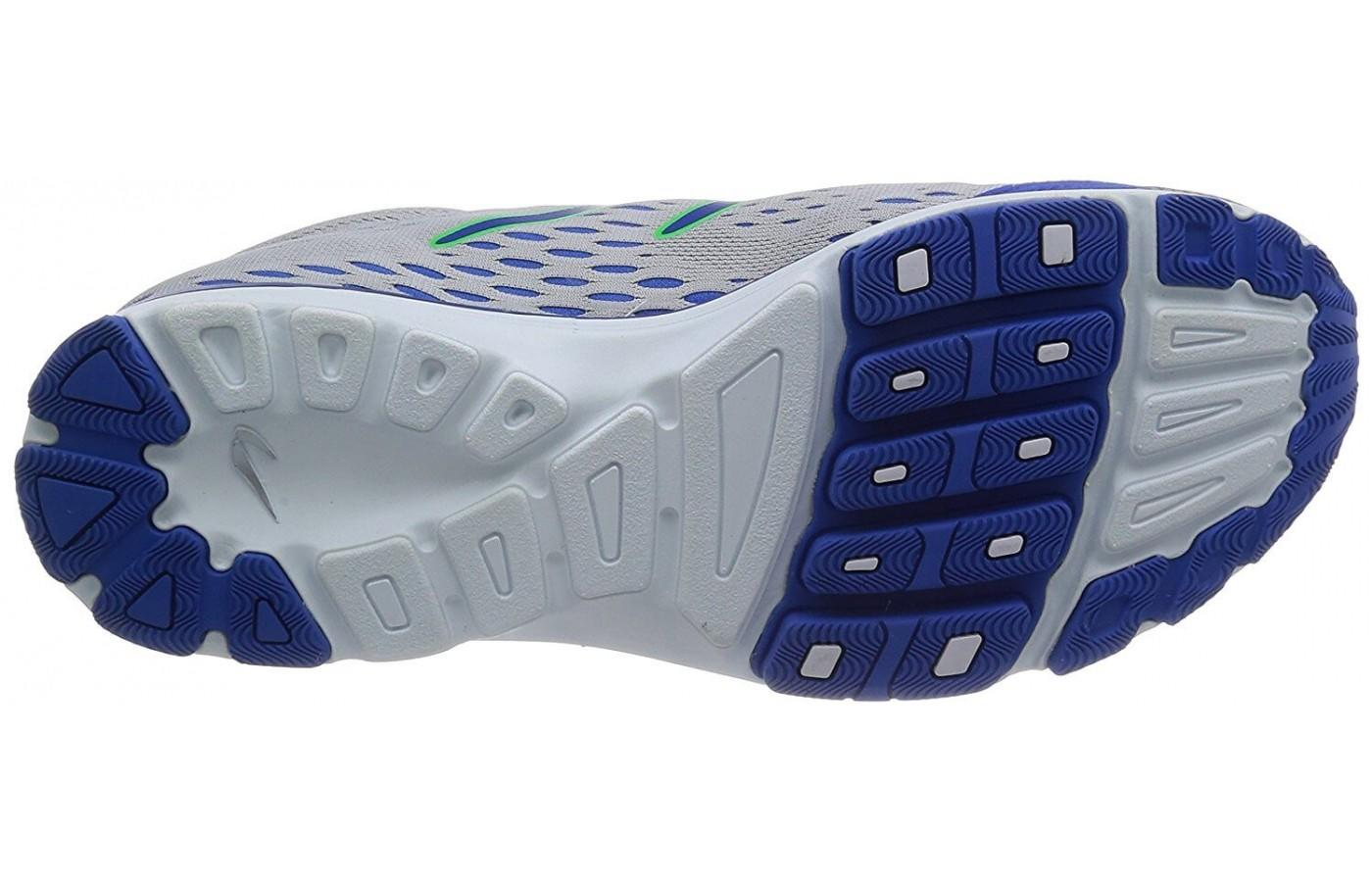 The outsole of the Aha II provide extra traction and flexibility.