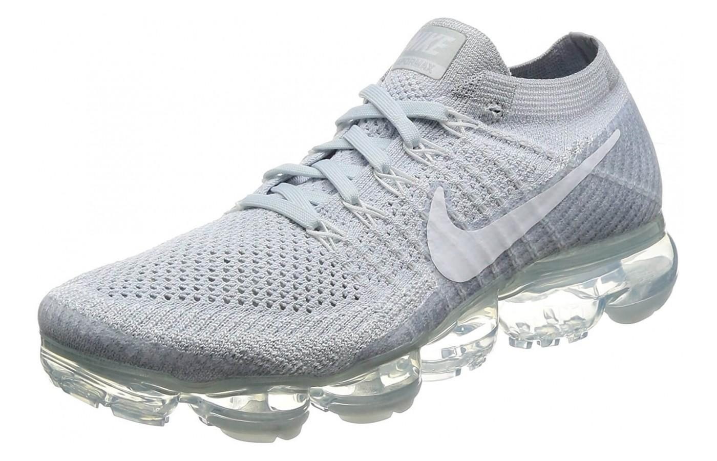 cd55897aa7 Nike Air Vapormax Flyknit. The platinum coloring and unique design help  this shoe stand out.