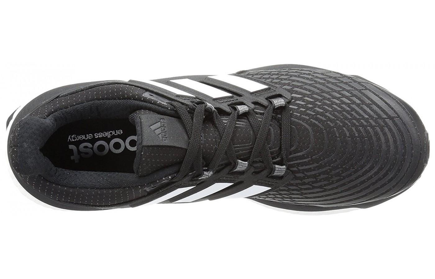 the Adidas Energy Boost has a stretchy, sock like upper