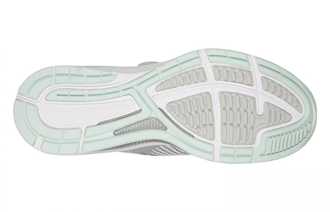 The Asics Dynamis has a high abrasion rubber outsole