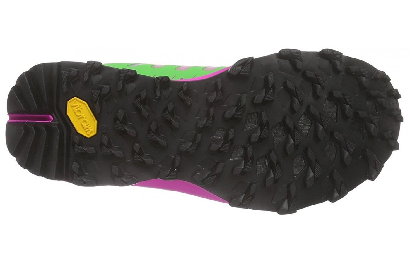 The outsole of the Dynafit Feline Vertical Pro gets great traction on tough, steep terrain