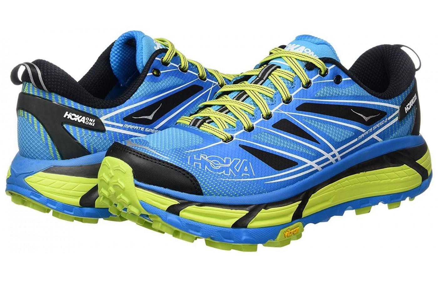 Hoka One One Mafate Speed 2 features flex grooves for a nice amount of flexion