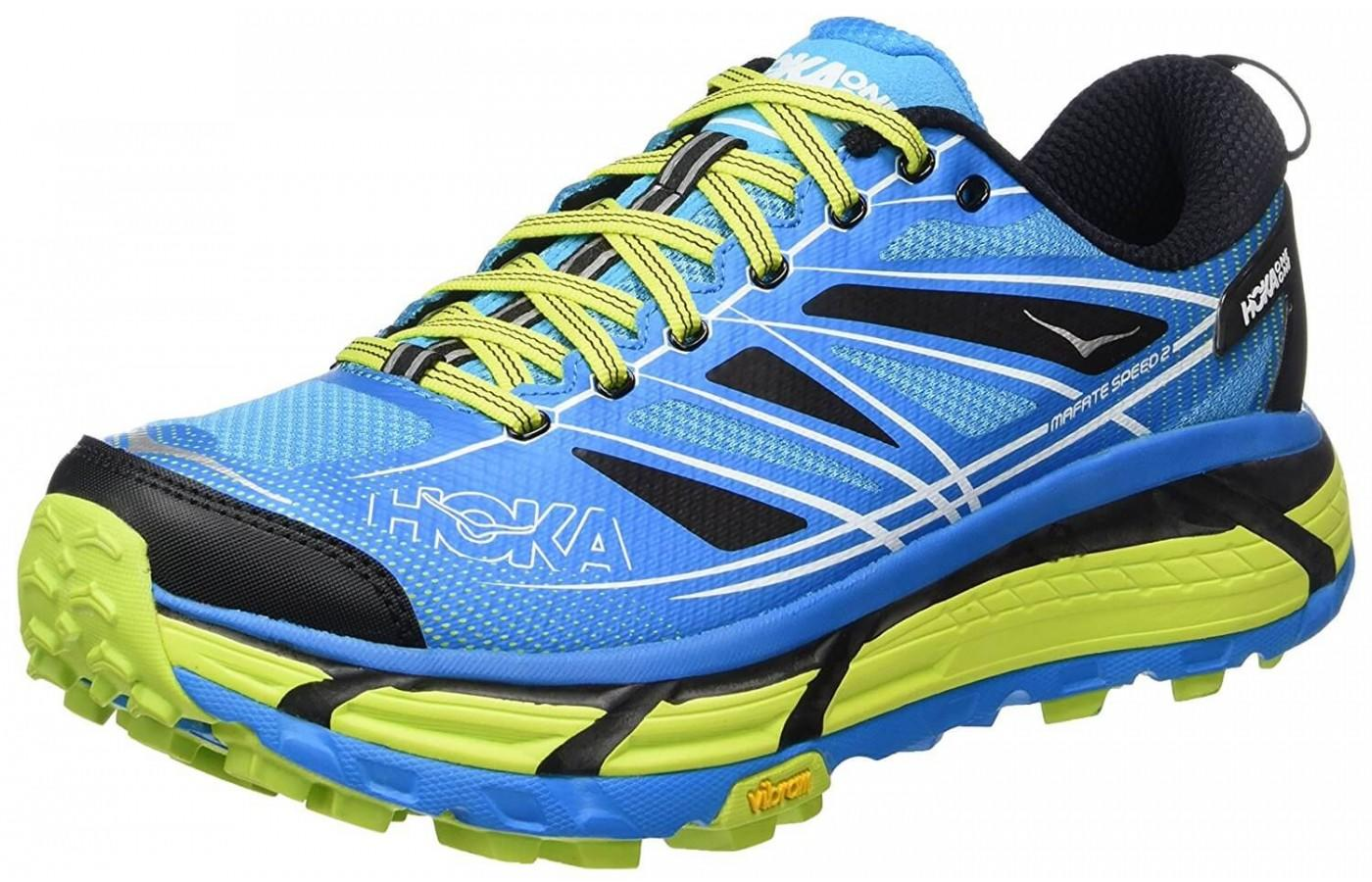 Hoka One One Mafate Speed 2 is a maximally cushioned shoe