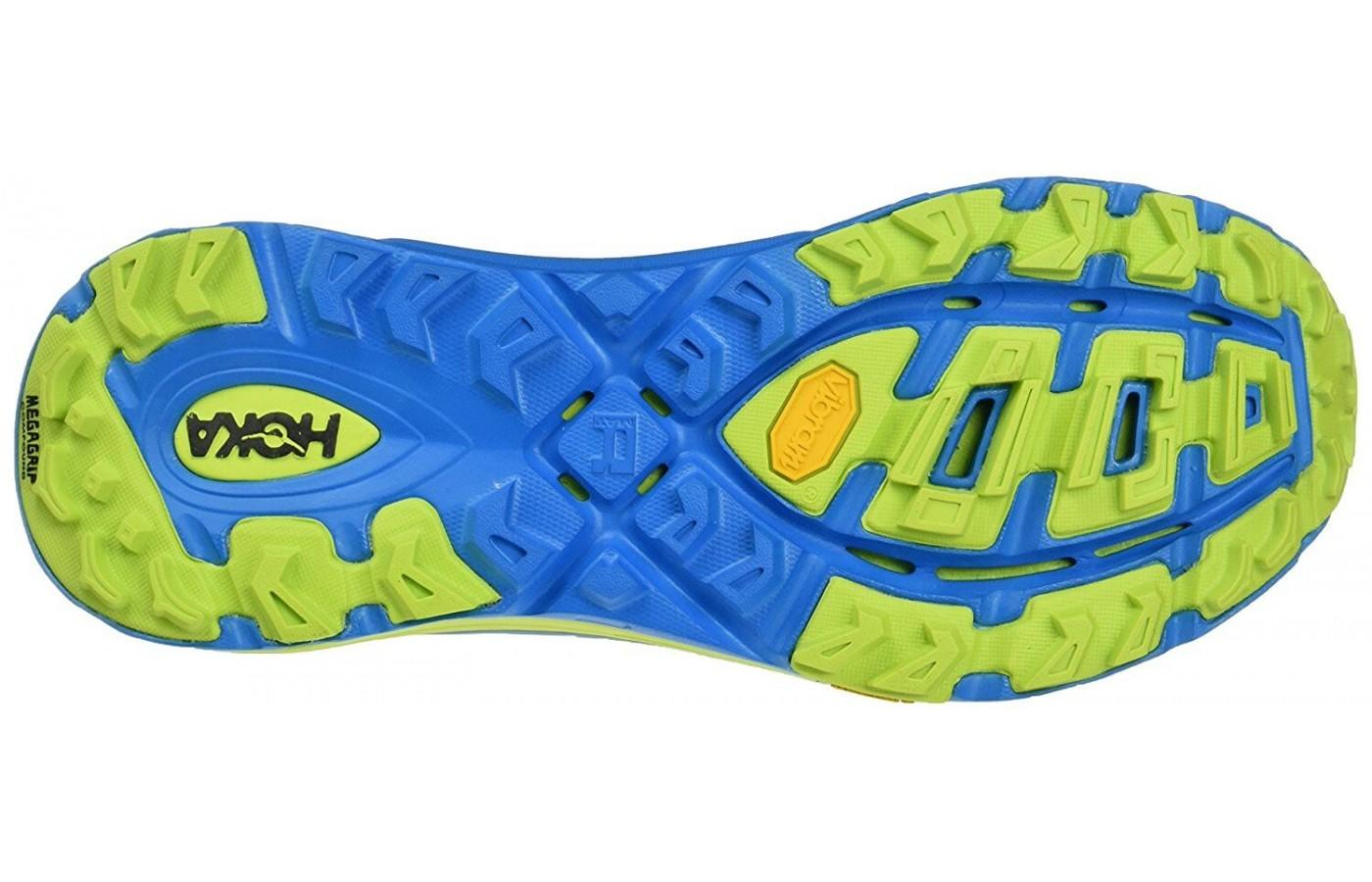 Hoka One One Mafate Speed 2 features an RMAT outsole