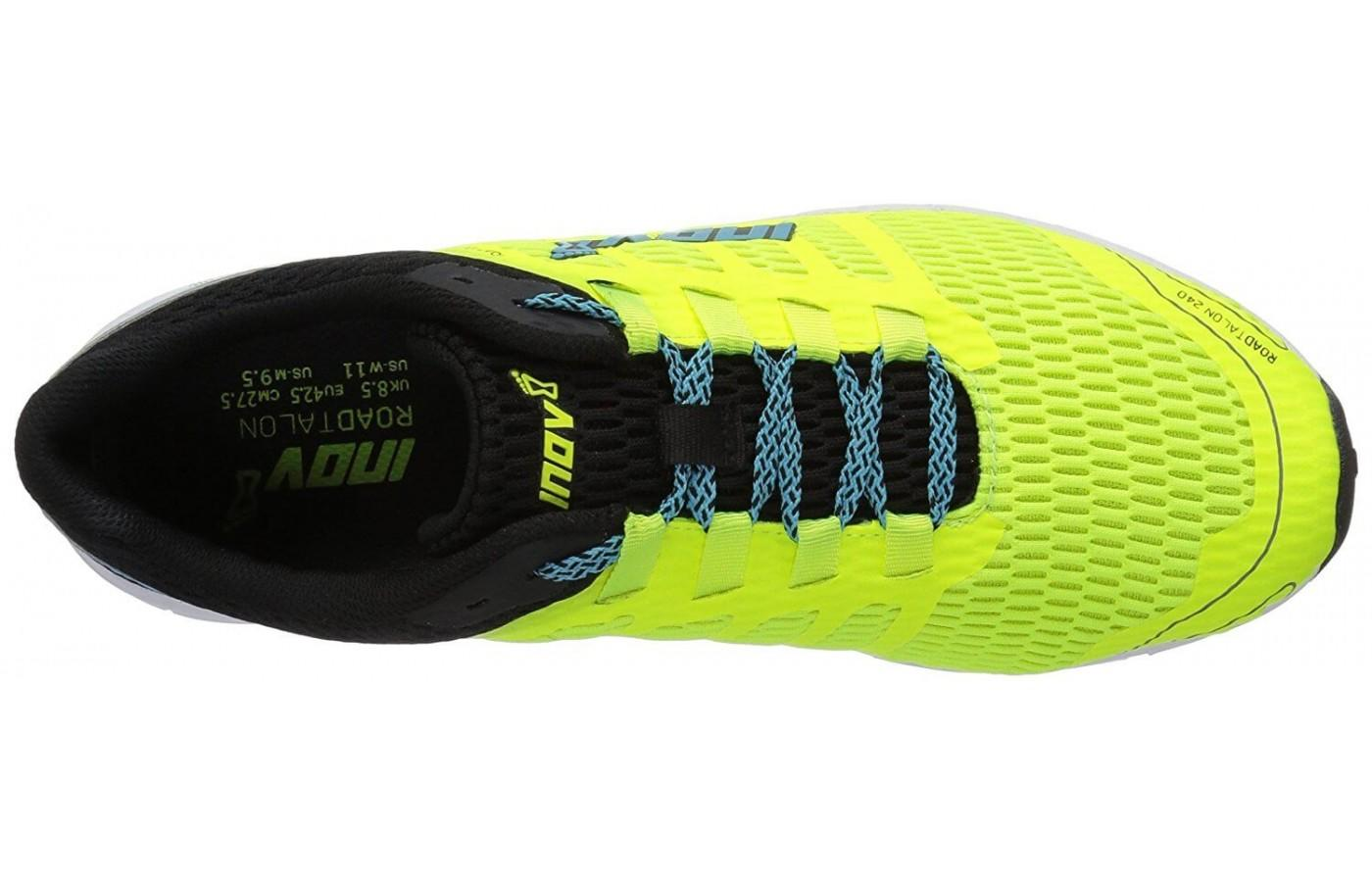 The breathable mesh upper of the Inov-8 Roadtalon 240.