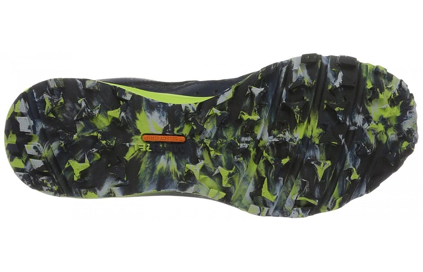 Merrell All Out Crush Tough Mudder has a durable outsole