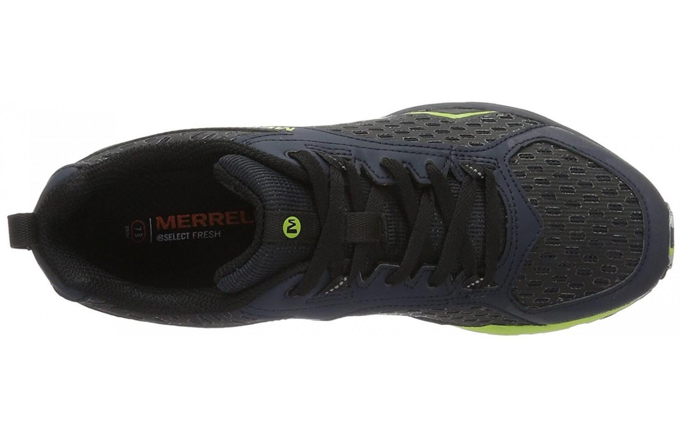 Merrell All Out Crush Tough Mudder has an upper that's breathable and protective