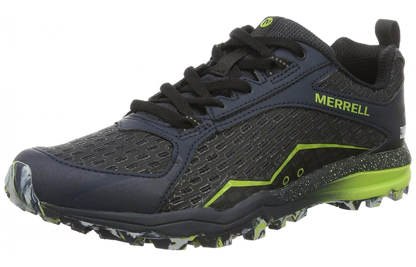 Merrell All Out Crush Tough Mudder has a bold look