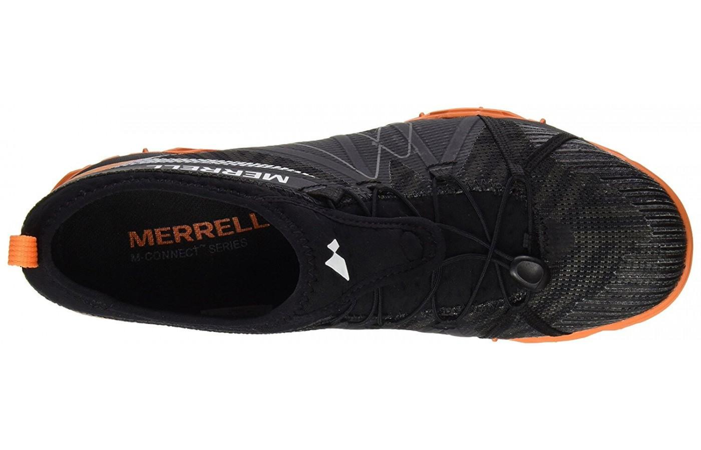 The upper of the Merrell Avalaunch Tough Mudder uses fabric and mesh for breathability