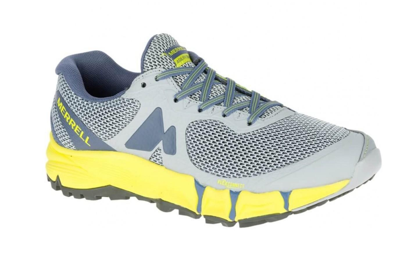Yellow accented version of the women's Merrell Agility Charge Flex