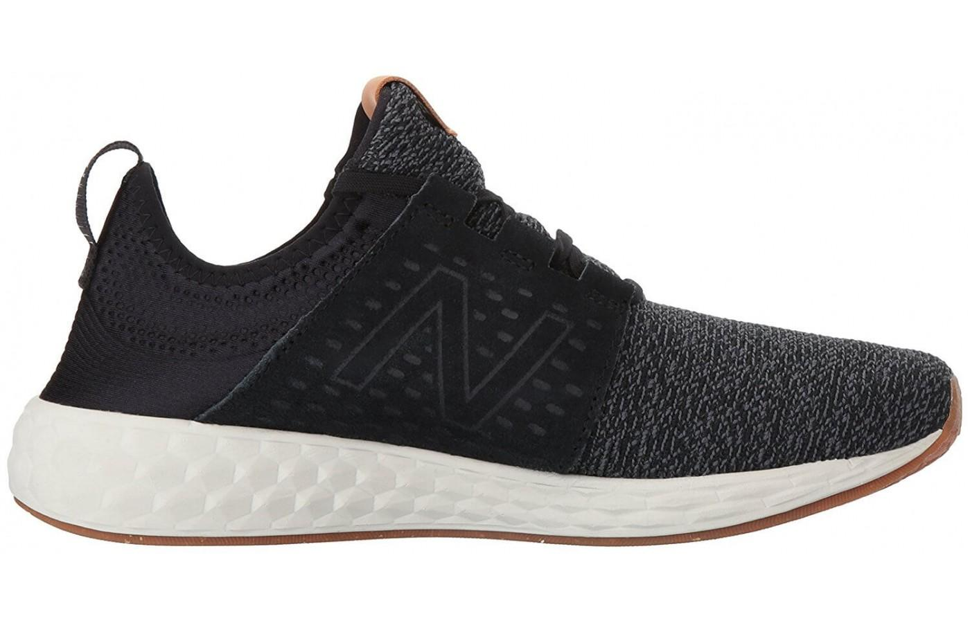 the New Balance Fresh Foam Cruz has a low profile with a blown rubber outsole