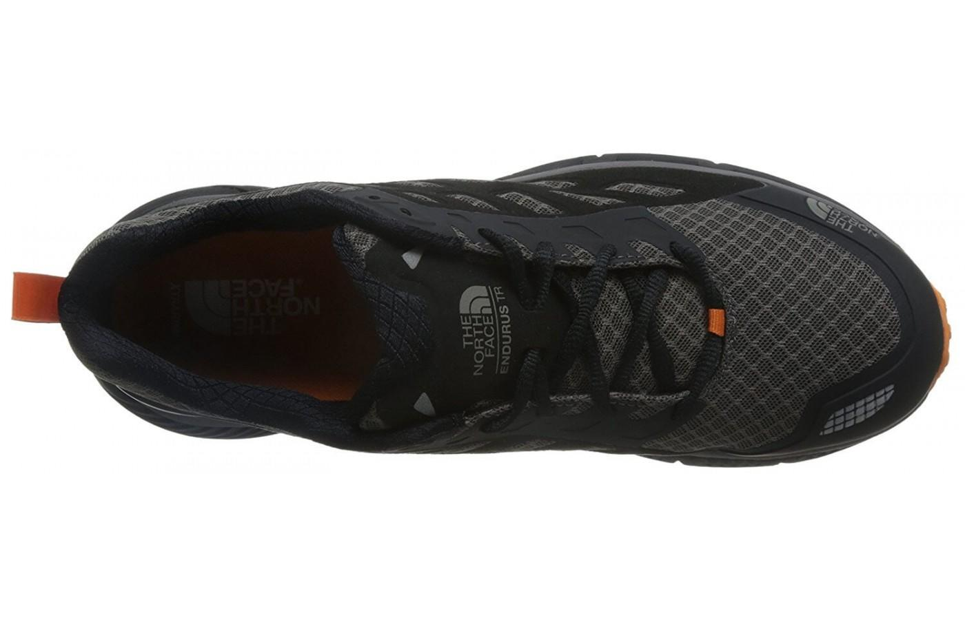 the upper of The North Face Endurus TR is flexible and breathable for step-in comfort