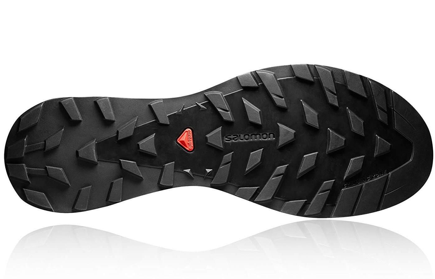 the outsole of the Salomon S-Lab XA Alpine features tenacious lugs for great traction
