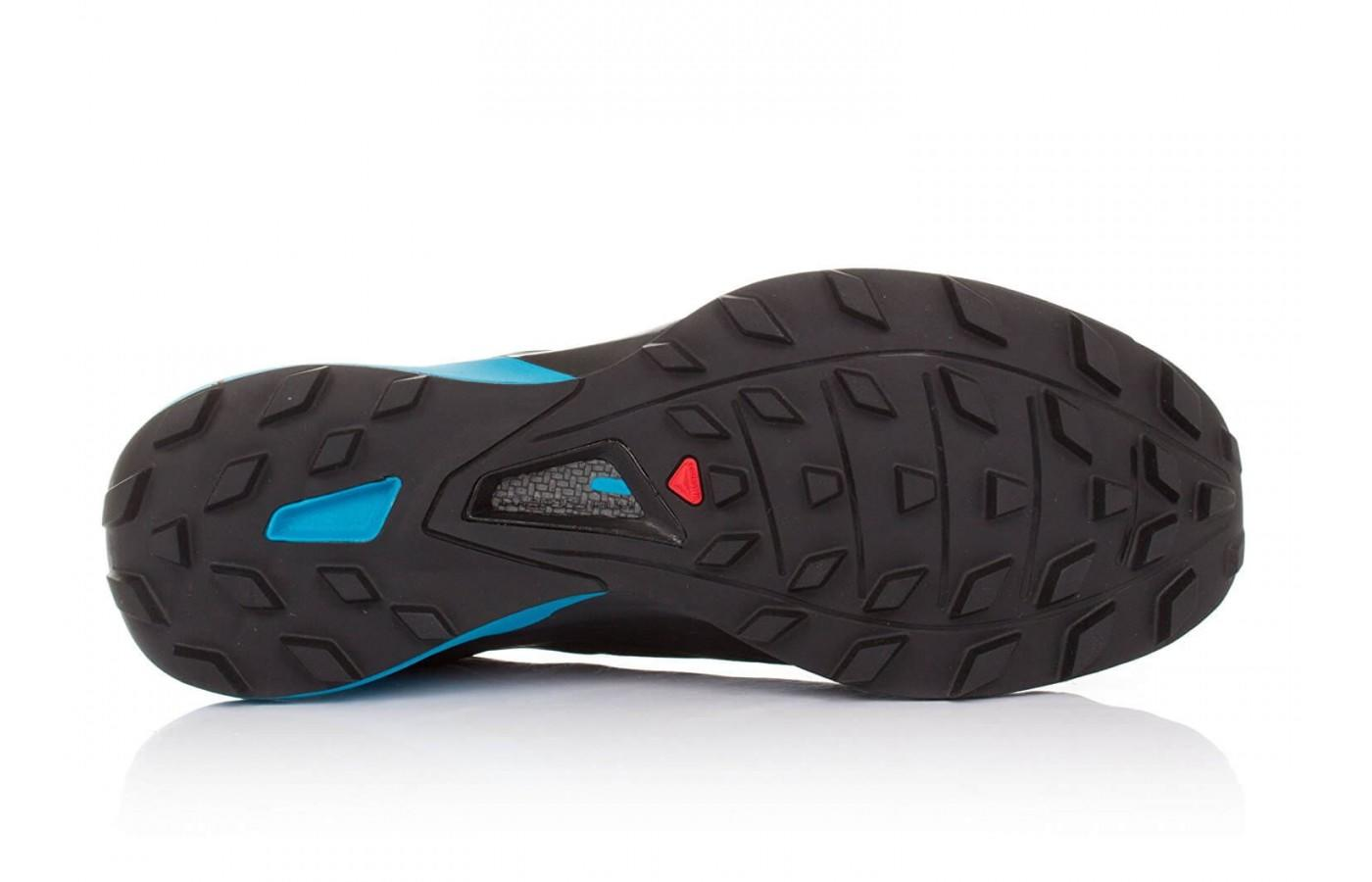 the Salomon S-Lab Xa Amphib has a Premium Wet Traction Contagrip outsole for traction on wet and dry surfaces