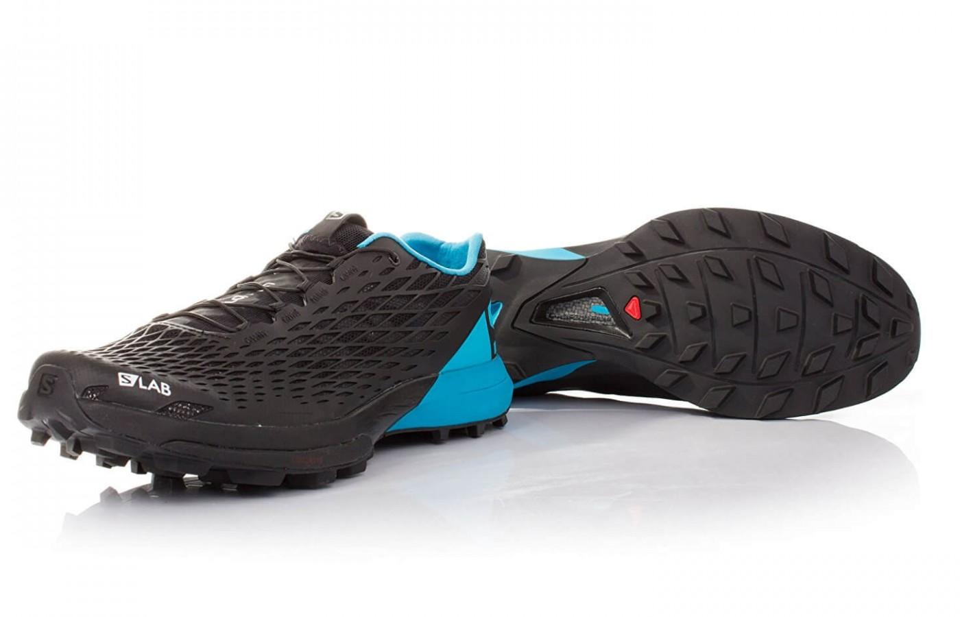 the Salomon S-Lab Xa Amphib's OS Tendon technology creates better rebounds