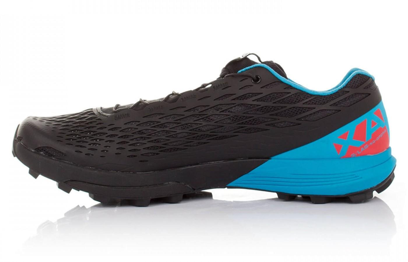 the Salomon S-Lab Xa Amphib has a quick drying and breathable mesh upper
