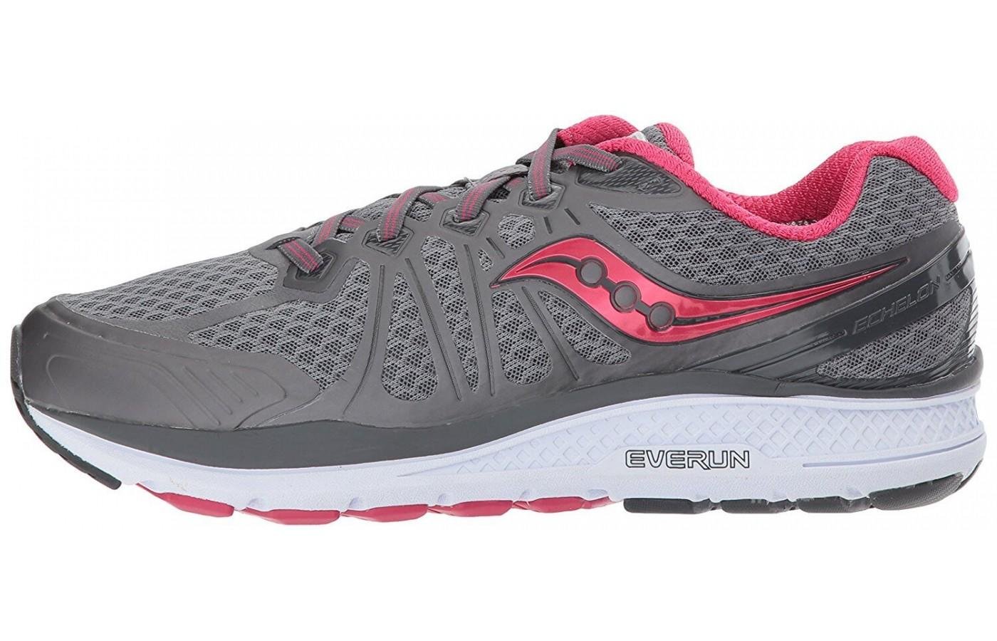 The Saucony Echelon 6 uses a Foundation Platform for high volume feet, such as runners and people who need medical orthotics