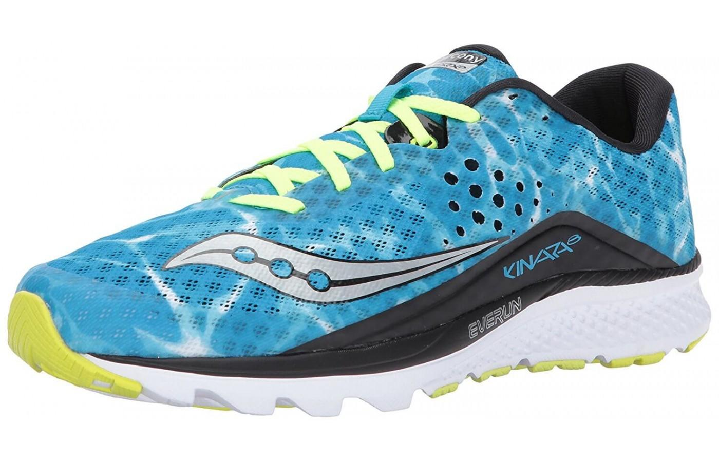 The Saucony Kinvara 8 shown from the front/side