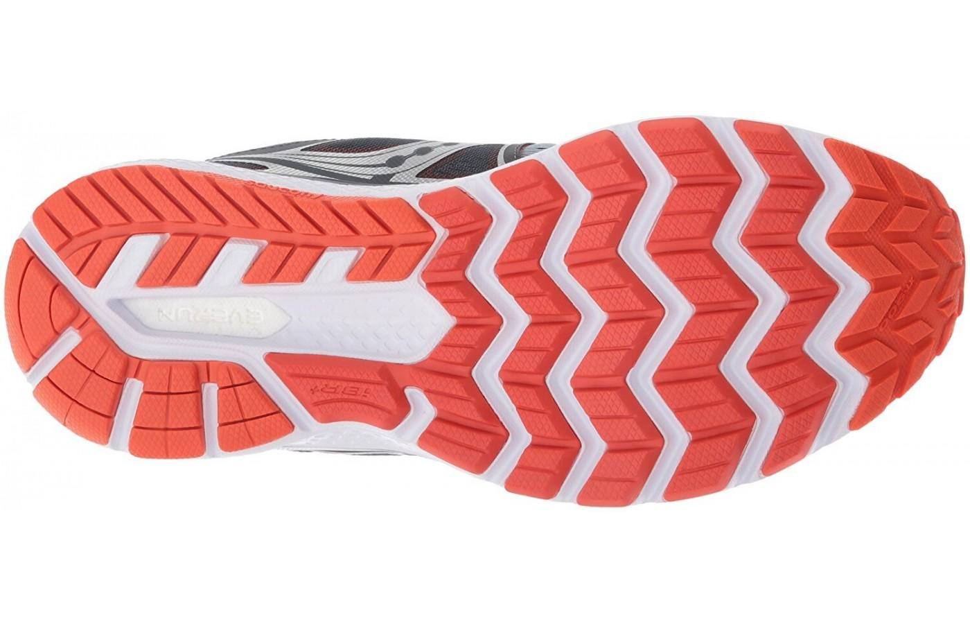 abd267b81f81 ... The TRI-FLEX outsole pattern of the Saucony Triumph ISO 3 running shoe  ...