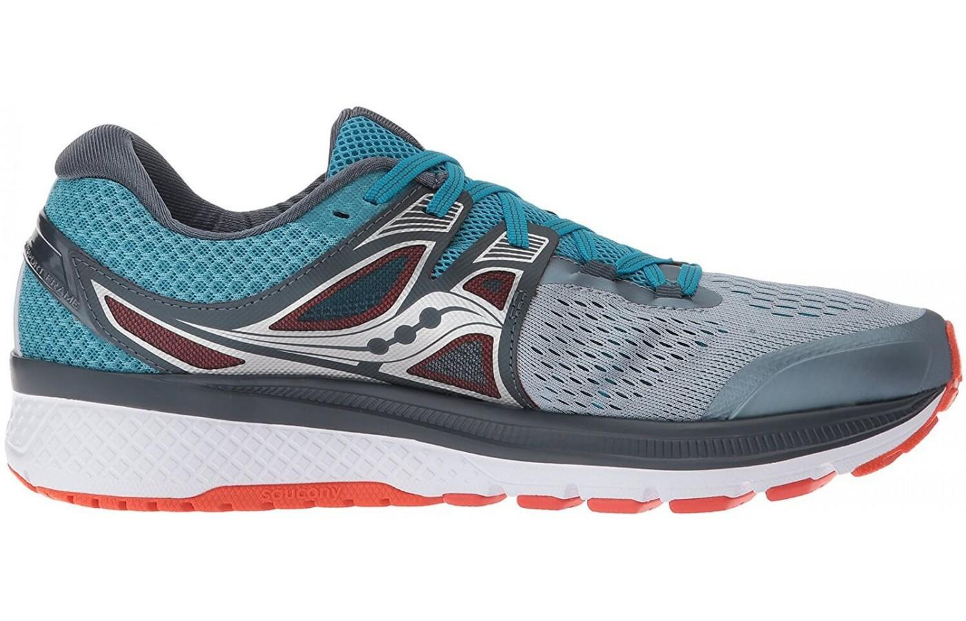 Full side view of the Saucony Triumph ISO 3 running shoes