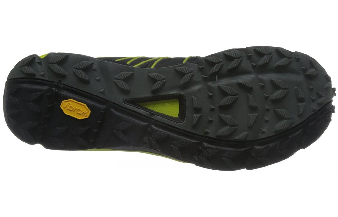 The North Face Ultra Vertical has aggressive multi-directional lugs for traction on tough trails