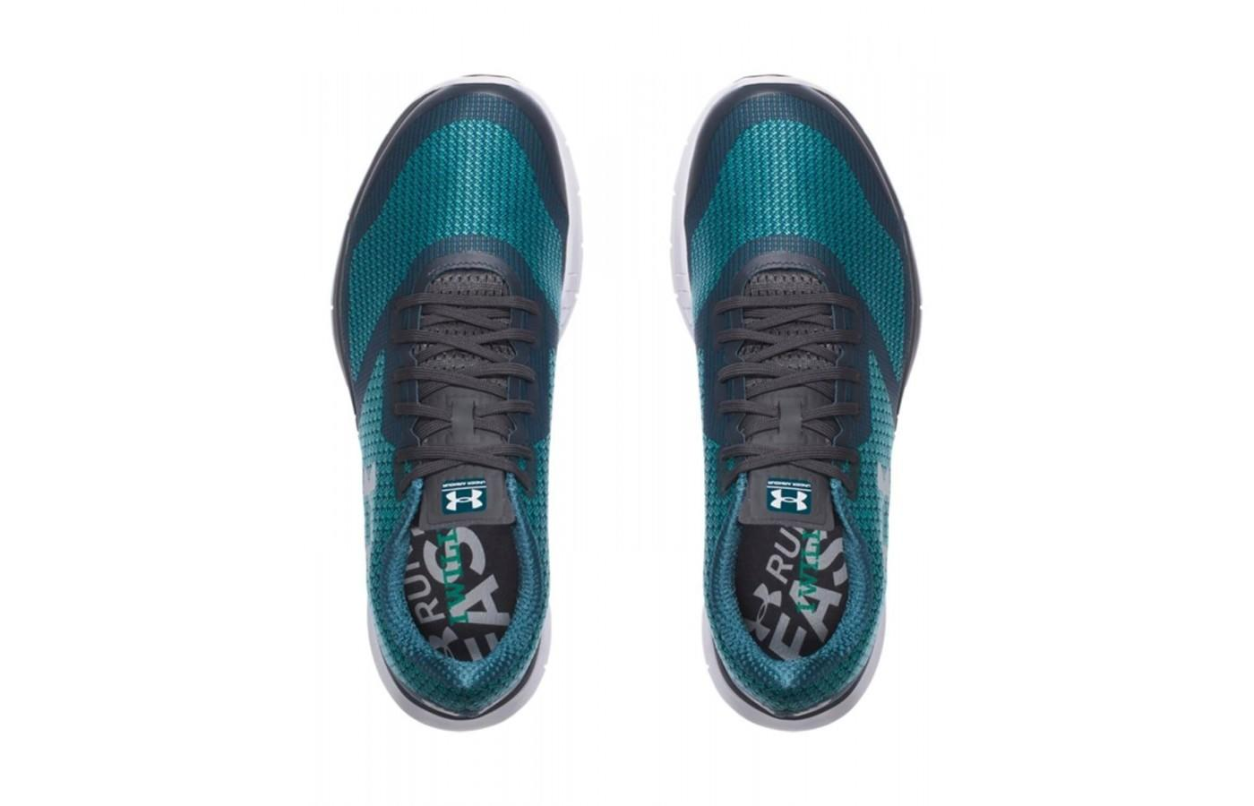 the upper of the Under Armour Charged Lightning is made of flexible, seamless woven jacquard