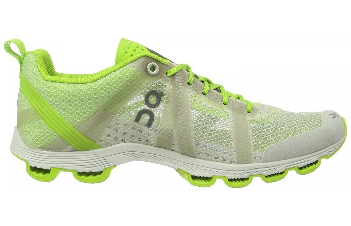 the Cloudracer comes in this bright neon yellow green
