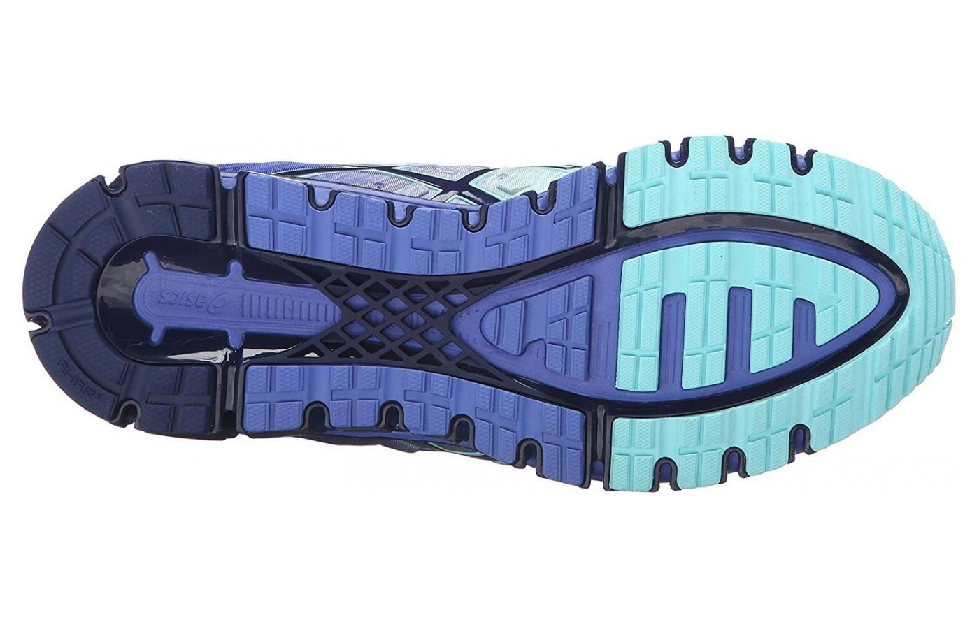 The outsole is made from Asic's High Abrasion Rubber