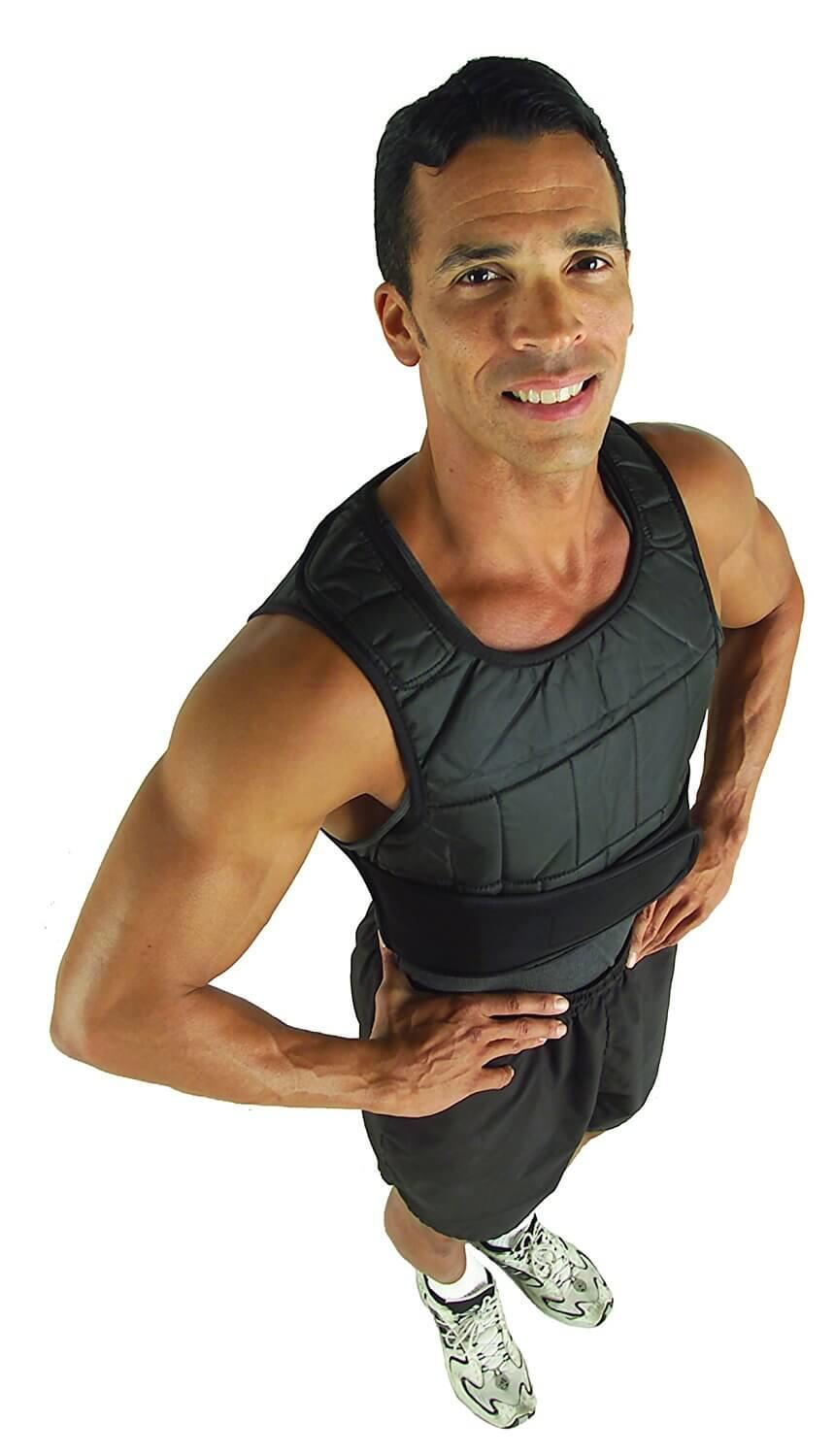 ZffXH Padded Adjustable Weighted Vest Training Jogging Fitness Workouts Weight Vest for Running