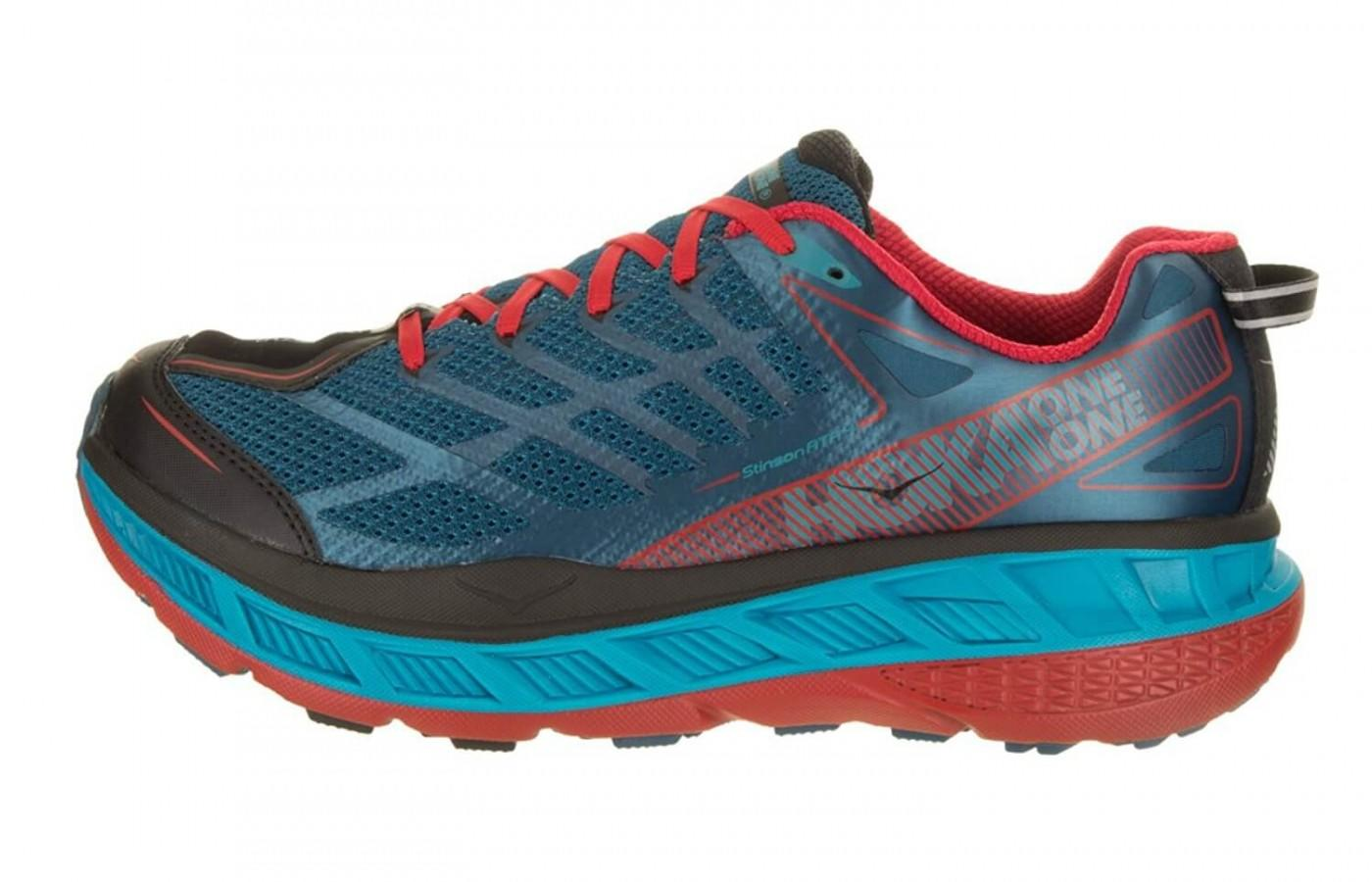 The signature thicker midsole provides added stability and support for the runner.
