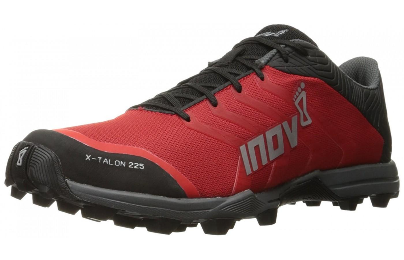 Inov-8 X-Talon 225's rugged competitive look complete with protective rubber toe and heel bumpers