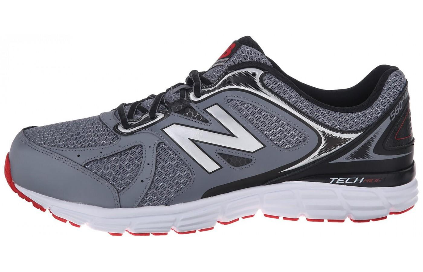 A view of the inner side of the New Balance 560V6.