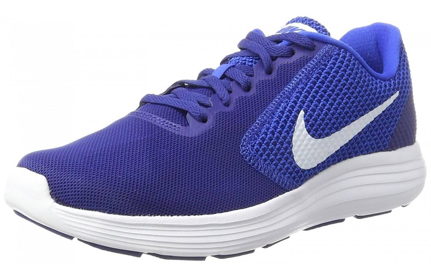 The Nike Revolution 3 features Phylon midsole cushioning