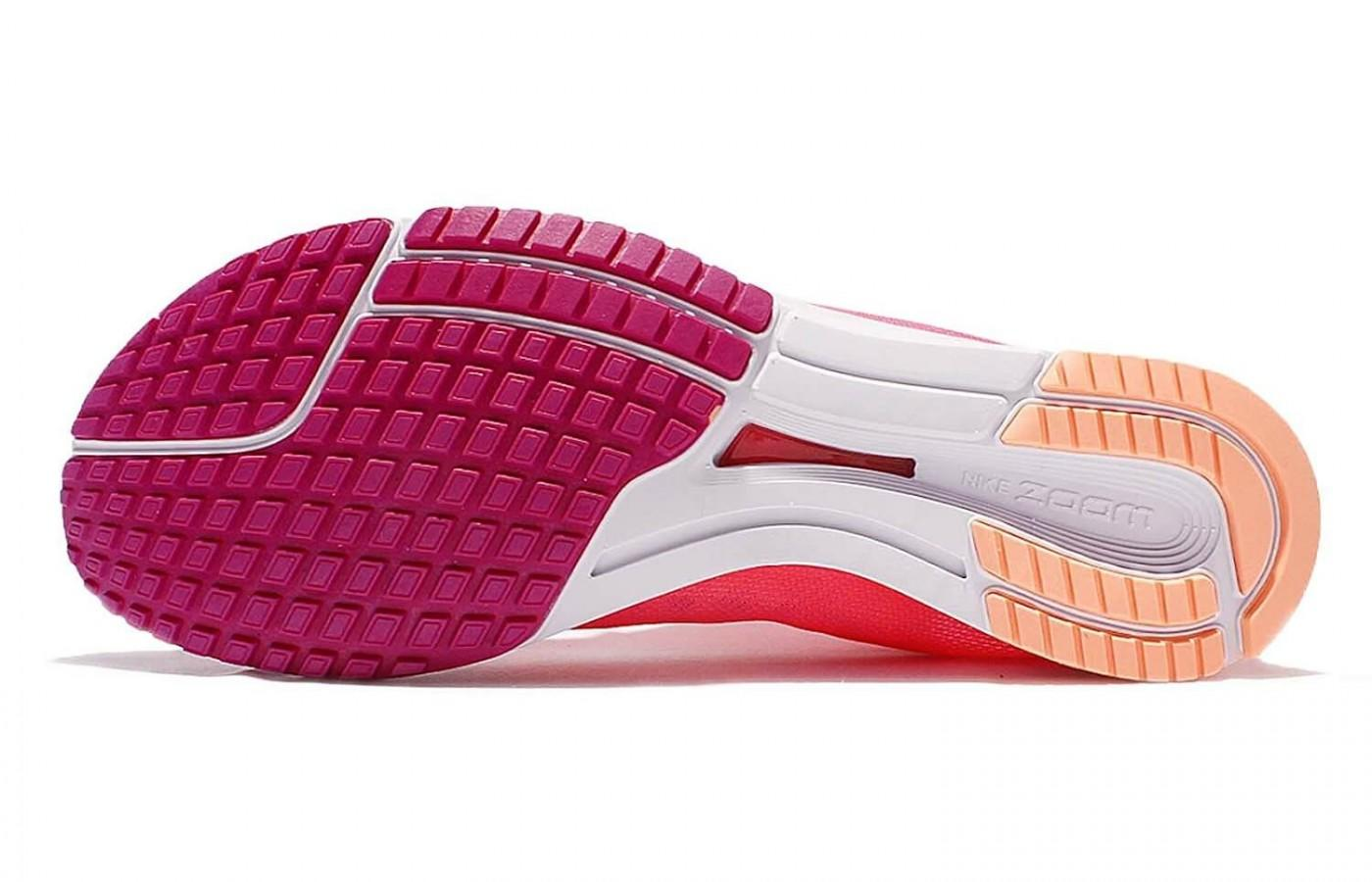 The outsole of the Nike Zoom Streak LT3