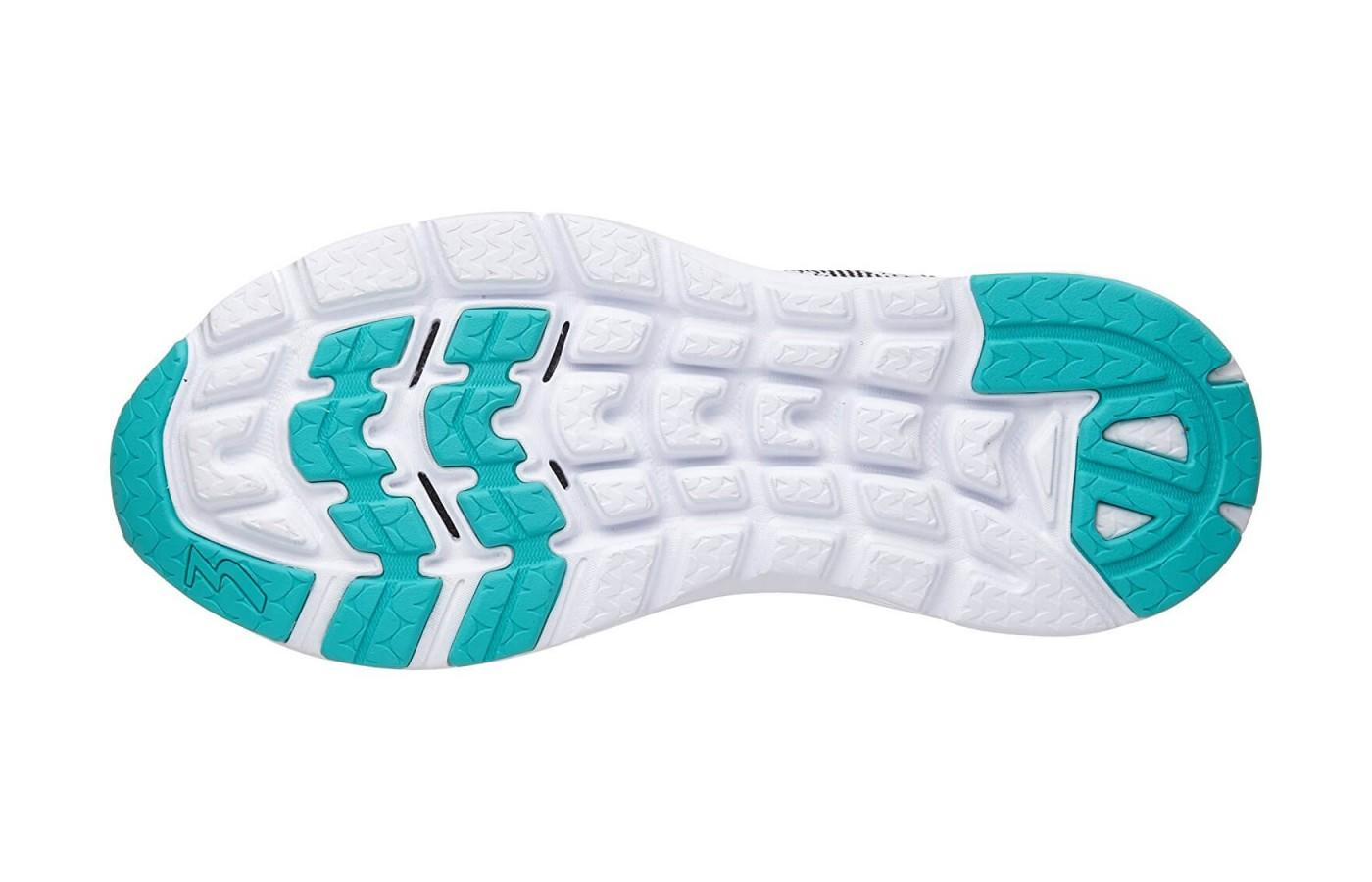 the outsole provides solid traction on roads and sidewalks