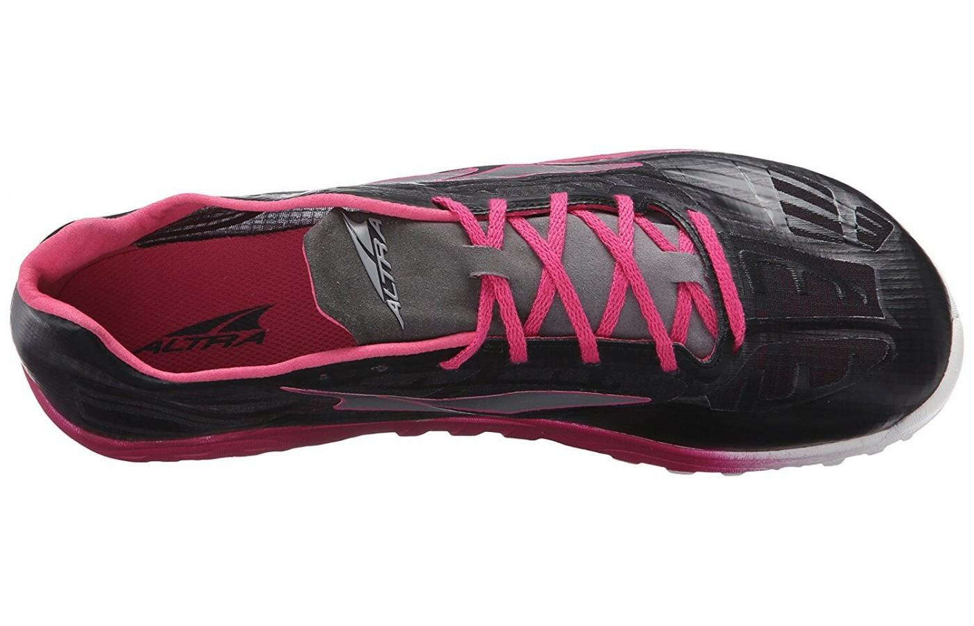 the upper of the Altra Golden Spike is made of a breathable quick-dry mesh