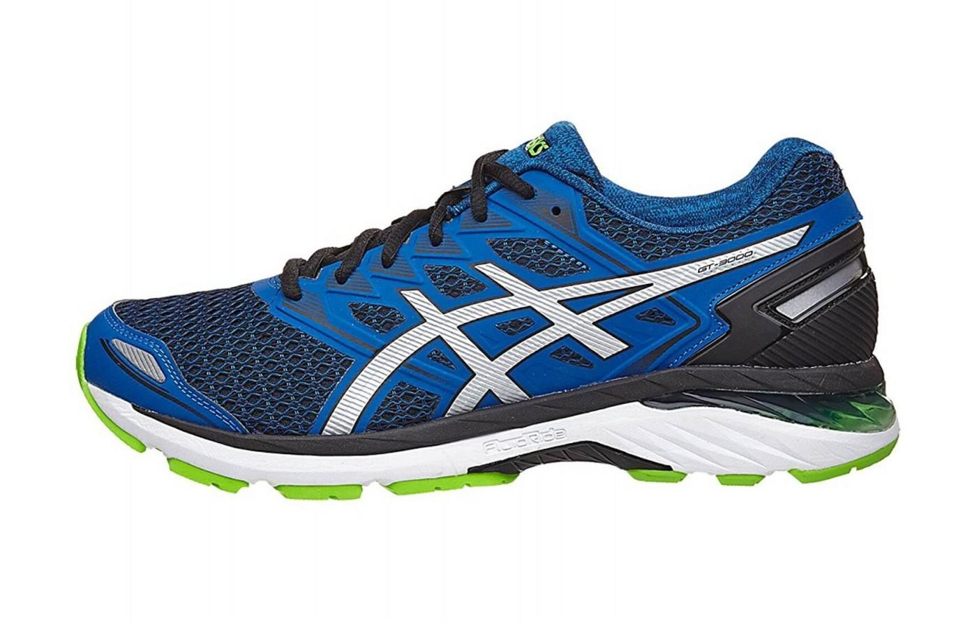 The Asics GT 3000 5 has a heel counter that both supports the foot and improves the fit