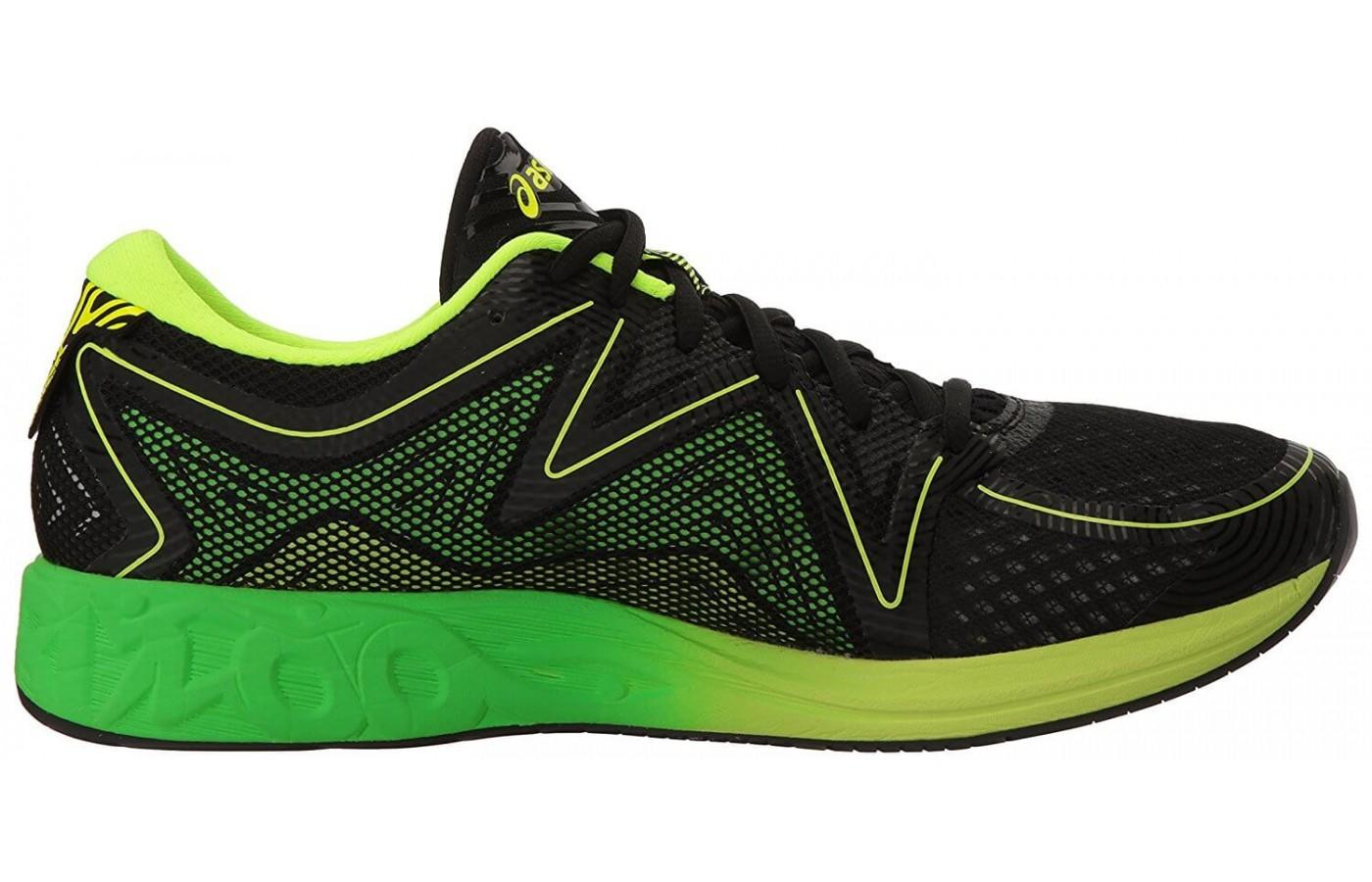 the Asics Noosa FF comes in a variety of color schemes that are vibrant and highly visible